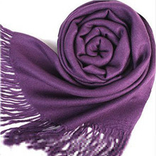 Wrap Scarf Wool Blends Soft Multicolor Women's Warm Scarves Long Large Shawl Tassels Autumn Winter Style