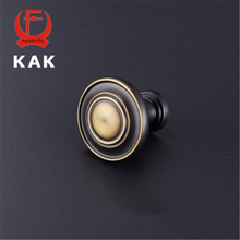 KAK New Design Solid Brass Knobs Cupboard Drawer Pulls Modern Wardrobe Door Handles With Screws Furniture Hardware(China)