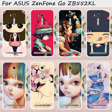 TAOYUNXI Mobile Phone Case for ASUS ZenFone Go ZB552KL 5.5 inch Cover Case Hard Plastic Colorful Puppet doll DIY Painted Bag(China)