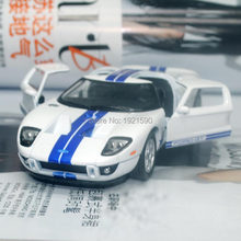 10pcs/pack Wholesale Brand New KT 1/36 Scale USA 2006 Ford GT Diecast Metal Pull Back Car Model Toy