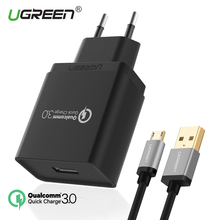 Ugreen Quick Charger 3.0 USB Charger 18W Fast Mobile Phone Charger (Quick Charge 2.0 Compatible) USB charger for Samsung Xiaomi(China)