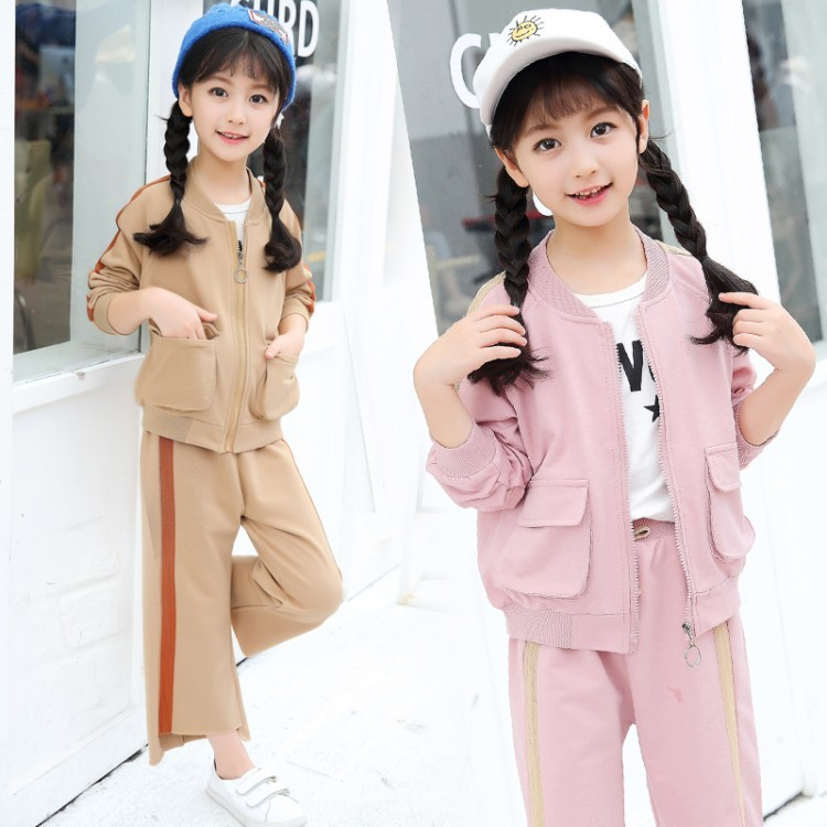 Childrens Garment Autumn New Child Fashion Motion Children Full Two Pieces Kids Clothing<br>