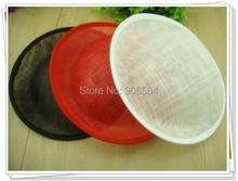 3 color for select 25CM  SINAMAY fascinator base for making fascinators party hats Millinery material cocktail hats