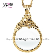 DreamCarnival 1989 Long Chain Necklace for Mom Parents Zoom Len Flower Pendant Rhodium Gold Color collares largos Collier Bijoux(China)