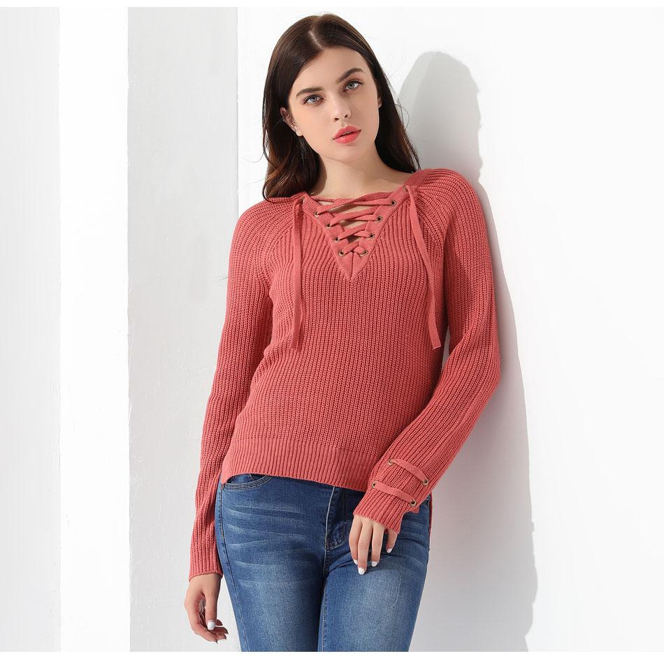 Women's Pullover Long Sleeve KnittedSweater 28