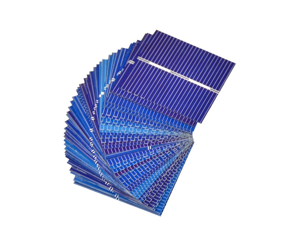Aoshike 100pcs Polycrystalline Solar Panel 39*39mm 0.5V 0.25W Solar Battery Silicon DIY Solar Charger Battery Painel Solar 5