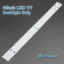 "2pcs x46""inch Aluminum Plate LED Strips w/ Optical Lens Fliter TV Panel Backlight Lamps Length 439mm 6pcs LED"