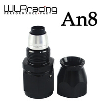 WLRING STORE- Black High Quality PTEF AN8 AN-8 Straight REUSABLE SWIVEL TEFLON HOSE END FITTING AN8 WLR-SL6000-08-021