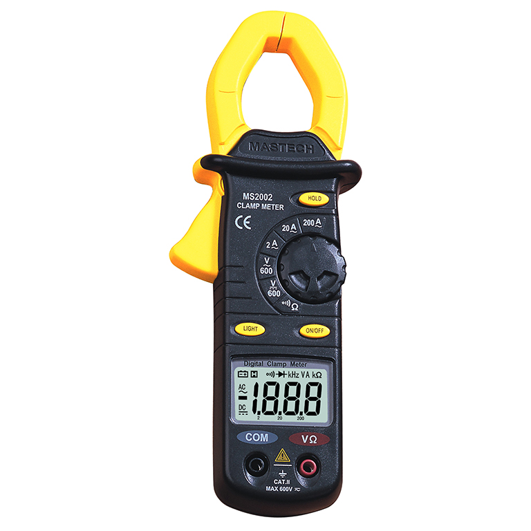 MS2002 Digital Clamp Meters AC/DC Voltage Current Resistance Audible Continuity Measurement Manual Range<br>