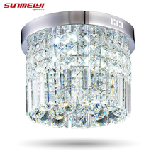 Modern Crystal LED Ceiling light Fixture For Indoor Lamp lamparas de techo Surface Mounting Ceiling Lamp For Bedroom Dining Room(China)