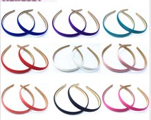 Satin Headband Hair Band Alice Band narrow Hairband bow hoop1.5cm Wide