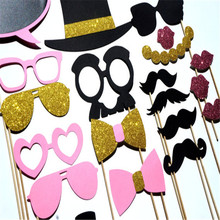 21Pcs Photo Booth Props DIY Mask Mustache Stick Bridal Bride To Be Design Decor Festive Party Events Decoration Favor Supplies(China)