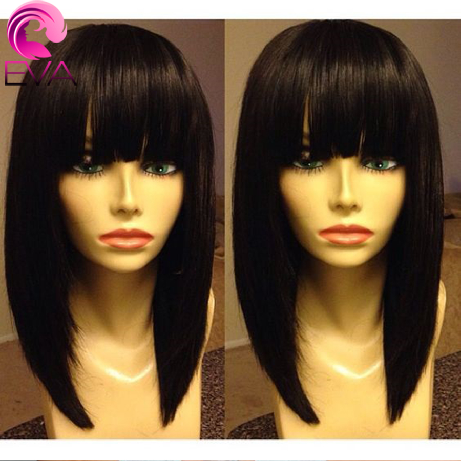 7A Grade Short Human Hair Bob Wigs Gluless Full Lace Human Hair Wigs For Black Women Brazilian Virgin Hair Bob Lace Front Wigs<br><br>Aliexpress