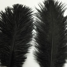 free shipping new 10PCS Ostrich Feather 15-20cm  Wedding Decoration Party Plumage Decorative Celebration Black