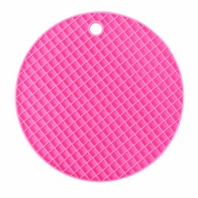 Colorful Round Silicone Kitchen Table Mats Dining Table Placemat Coaster Cup Mat Kitchen Accessories