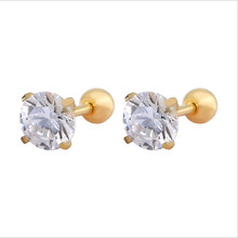 Doublehee AAA Zircon Earrings Studs Quality No Fade Allergy Free Pop Brief  Metal Material 316L Stainless Steel Ears Jewelry