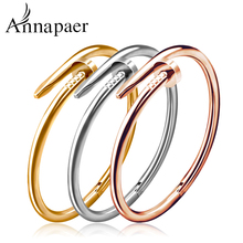 New High Quality Gold Plate Jewelry Titanium Stainless Steel Luxury Brand Stylish Screws Nail Bangle For Women&Man Bangle