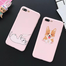 Hot Style Cute Cartoon Animal Cat & Dog Pattern Soft TPU Thin Anti Shock Mobile Phone Cases For iPhone7 7 Plus 6 6S Plus YC2127