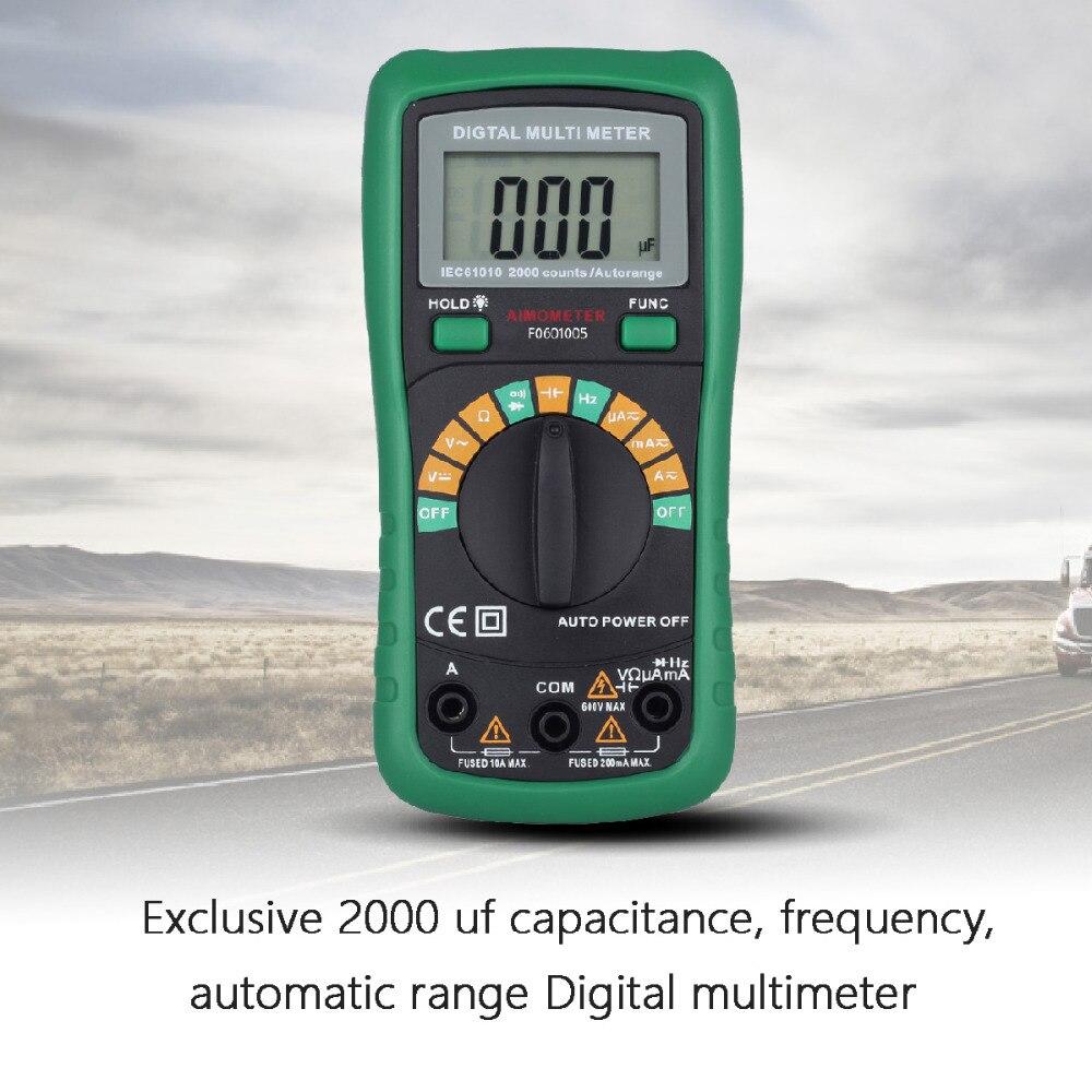 With 2000uF Capacitance and Frequncy Measurement  Auto Range  Digital Multimeter Free shipping VS UT136B ut120c<br><br>Aliexpress