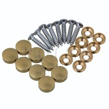 BQLZR 8pcs 12mm Dia Golden Furniture Fittings Table Mirror Cap Nail Copper with Screws(China)