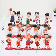 5Pcs/set Anime Slam Dunk PVC Action Figures Dolls Boys Toys Doll Birthday Christmas Gifts