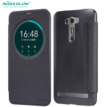 Nillkin Hollowed-Out Window Leather + PC Cover For Asus ZE601KL Flip Case For Asus Zenfone2 Laser 6inch Phone(China)