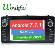 Android 7.1.2 Quad core RK3188 2 Din Car DVD GPS For Toyota Corolla E120 BYD F3 touch screen WIFI 3G GPS Car radio RAM 2G /1G(China)