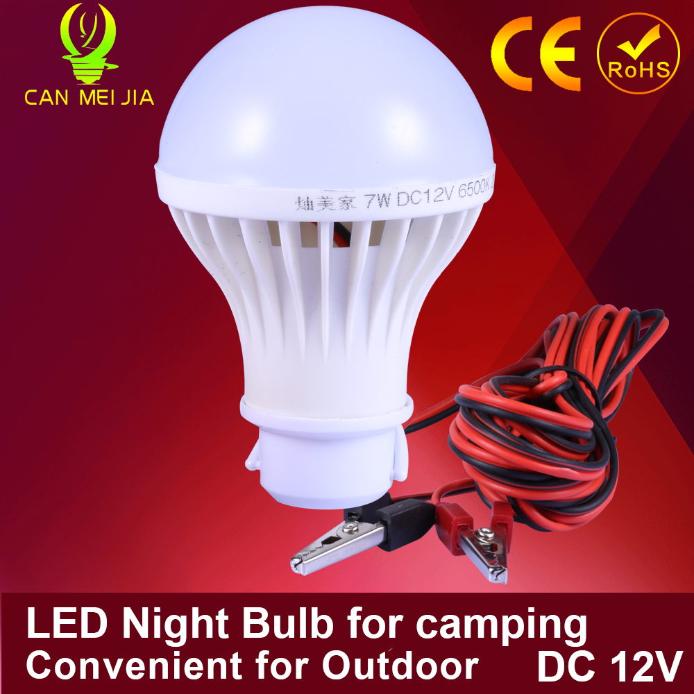 1pcs Led Energy Saving Lamp Led Bulb 3W 5W 7W  Camping 300mm 9W 15W DC 12V Led Lights For Outdoor Night Market Electric Wire<br><br>Aliexpress