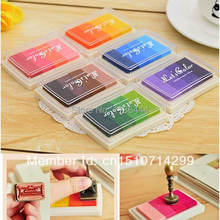 3PCS 0 Colors Gradient Ink Pad Ink Stamp Pad For Rubber Stamps Paper Wood Fabric VJTeP