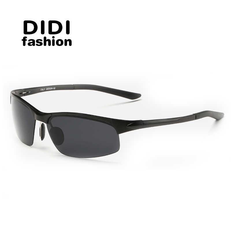 a5a9bd2e03 DIDI Cool Men Polarized Sunglasses Luxury Square Military Driving Goggles  Eyeglass Retro Aluminum Frame Lunette De