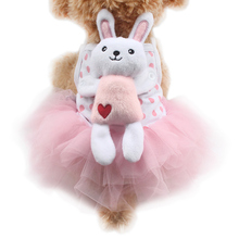 Armi store Rabbit Doll Decoration Sling summer TuTu Skirt Dog Dresses Princess Dogs Dress 6071053 Pet Puppy Costume Supplies