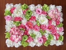10ftx10ft Artificial silk rose flower wall wedding background lawn/pillar flower road lead home market decoration