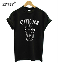 KITTICORN KITTEN UNICORN cat Print Women tshirt Casual Cotton Hipster Funny t shirt For Girl Top Tee Tumblr Drop Ship BA53