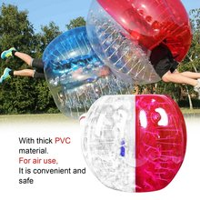 Human Knocker 0.8mm Thickness Inflatable Bubble Buffer Balls Bumper Soccer Zorb Ball For Adult Outdoor Activity Running Game(China)