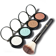 Women's Long Lasting Single Eyeshadow Face Highlighter Powder + Makeup Brush(China)