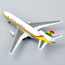 Collectible Airplane Models Inflight 1:500 Scale Douglas DC-10 Ghana Airways 9G-ANA Die-Cast Airplane Models Aircraft Toy Gift D
