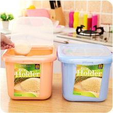 2016 New Multi-function  Superimposed Clamshell Plastic Rice Bucket Sealed Cans Of Whole Grains Storage Box Plastic Storage Box