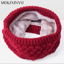 MOLIXINYU 2017 Winter Scarf For Women Children Scarf For Boys Thickened Wool Collar Scarves Baby Girls Scarf Cotton Unisex