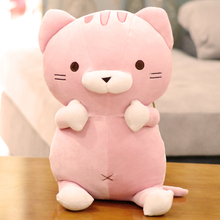 new plush cartoon cat toy soft cute pink cat doll gift about 50cm(China)