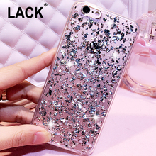 LACK Rose Gold Foil Bling Paillette Sequin Cover For iphone 6 Case For iphone 6S 6 Plus Skin Clear Soft TPU Ultra Slim Fundas(China)