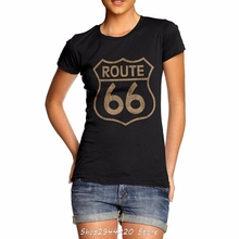 2017 Summer High Quality Woman's funny streetwear brand clothing T shirt Main Street Of America Route 66 3D Printed T-shirts