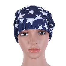 Sexy Lady Women Girls Long Hair Swim Cap Printed Polyester Flexible Durable Elasticity Swimming Hat