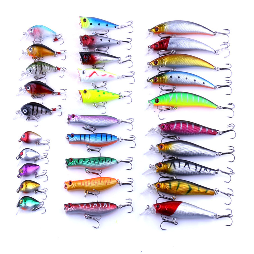 30pcs fly fishing lure set minnow lures hard bait carp wobblers fishing tackle wholesale <br><br>Aliexpress