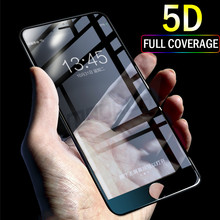 Buy 5D Tempered Glass iPhone 7 8 Plus glass 6s plus Screen Protector iPhone 7 8 6s Full Cover Film Glass Curved Edge for $3.37 in AliExpress store