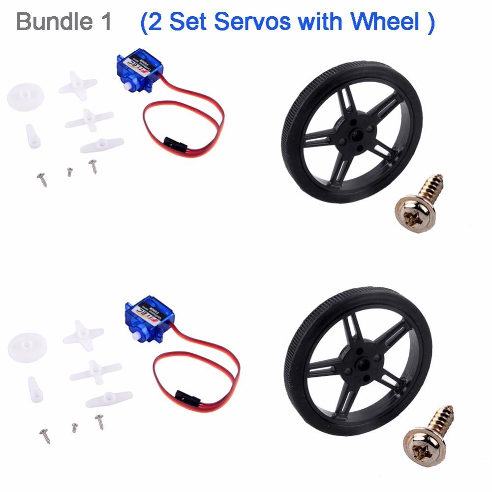 FZ0101-01X2+FZ2913X2 Feetech FS90R 360 Degree Continuous Rotation Servo -