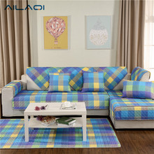 AILAQI 100% Cotton Modern Magic Sofa Sover Box Puzzle  Couch Cover Slip Resistant Sofa Cover Home Decor