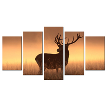 "Deer In The Sunset Canvas Wall Art Wild Animal Elk Picture Print On Canvas Fine Art Painting Modern Wildlife Poster 40x22""(China)"