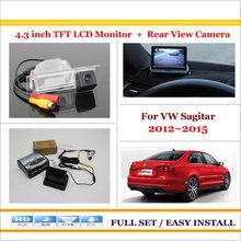 "In Car 4.3"" Color LCD Monitor + Car Rear Back Up Camera = 2 in 1 Park Parking System - For Volkswagen Sagitar (China) 2012~2015"