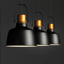 Black aluminum gold pot Industrial style pendant lights Vintage indoor Lighting for Restaurant/Home Decoration/bar light fixture(China)
