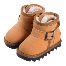 Winter Fur one piece Child Snow boots female Child Baby snow boots female Boots child male boots Baby toddler shoes winter